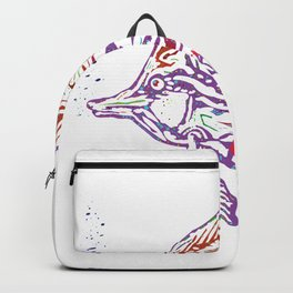 Purple Tropical Fish Backpack