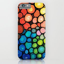 River's Edge - Colorful Mosaic abstract by Labor of Love artist Sharon Cummings. iPhone Case