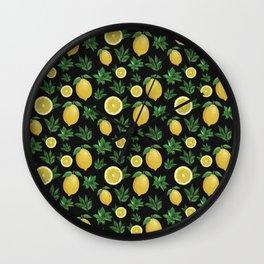 Lemon Love Wall Clock
