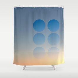 Through the Peep Holes Shower Curtain