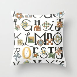 The ABC's of Quilting Throw Pillow