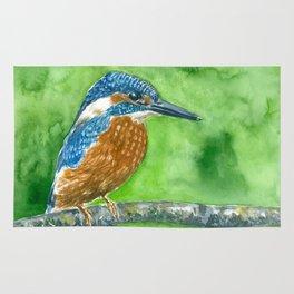 Kingfisher bird Rug
