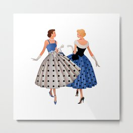 High Society Ladies - Digital Oil Painting Metal Print