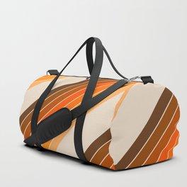Tan Candy Stripe Duffle Bag