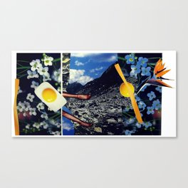 Wind pollination   Collage Canvas Print