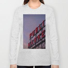Pike Place Neon Sunrise Long Sleeve T-shirt
