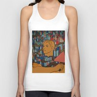 soviet Tank Tops featuring Moscow soviet union propaganda poster by Sofia Youshi