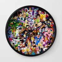 dragonball Wall Clocks featuring DragonBall Z - Insane amount of Characters by Mr. Stonebanks