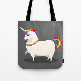 Fat and perfect unicorn Tote Bag