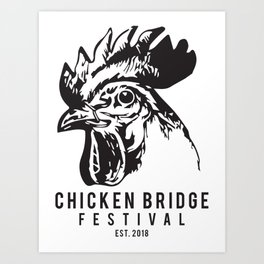 Chicken Bridge Festival, 2018 Art Print