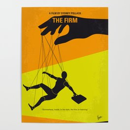 No1001 My The Firm minimal movie poster Poster