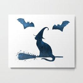 Witch Cat Metal Print
