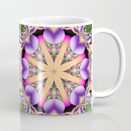 Colourful mandala with tribal patterns Coffee Mug