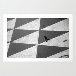 Lonely man Art Print