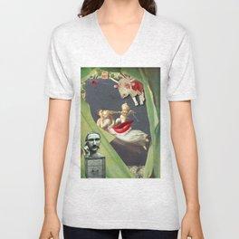 William Morris Surrealism Unisex V-Neck