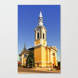 The village church of Niederkappel | architectural photography Canvas Print