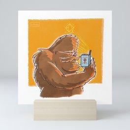 Good Book Bigfoot Mini Art Print