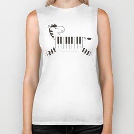 Life is like a piano Biker Tank