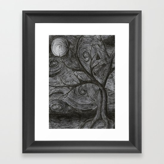 Night Framed Art Print