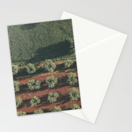 Aerial photo, nature textures, drone photography, olive trees, Apulia, Italian countryside Stationery Cards