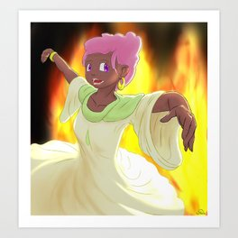 Dancer of Fire Art Print