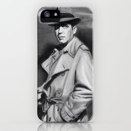 Classic Humphrey Black & White Drawing iPhone Case