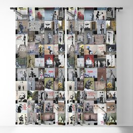Banksy Blackout Curtain