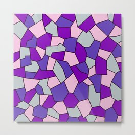 Hard Mosaic 02 Metal Print