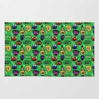 sesame street Area & Throw Rugs featuring Sesame Street Pattern by MOONGUTS (Kyle Coughlin)