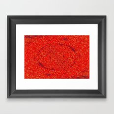 THE RED EYE EXPRESSion Framed Art Print