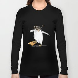 Penguin Is Ready To Dive Long Sleeve T-shirt