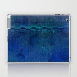Dark Navy Blue Textured Abstract Laptop & iPad Skin