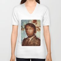 hannibal V-neck T-shirts featuring Hannibal by András Récze