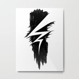 Lightning Arts Logo Metal Print