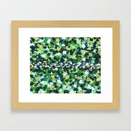 Colorful Green Abstract Painting Framed Art Print