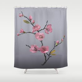 Flowering Pink Quince Shower Curtain