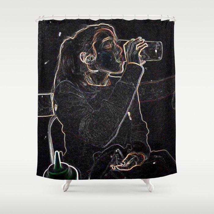 LA diner Shower Curtain