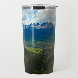 Gore Range with ranches below Travel Mug