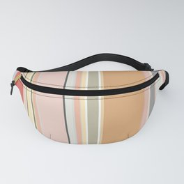 Soft Coral Pink Stripes Fanny Pack