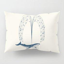 Whale the Musicient Pillow Sham