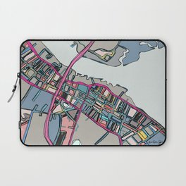 Abstract Map Newburyport Laptop Sleeve
