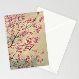 Vintage Pink Dogwood Tree in Flower Stationery Cards