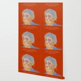 Ursula K. Le Guin portrait + quote Wallpaper