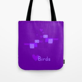 Love Birds-Purple Tote Bag