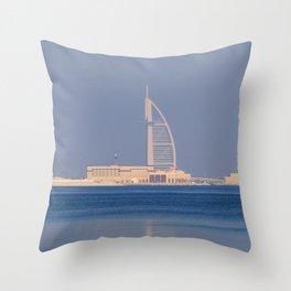 Burj AL Arab Dubai Architecture Throw Pillow