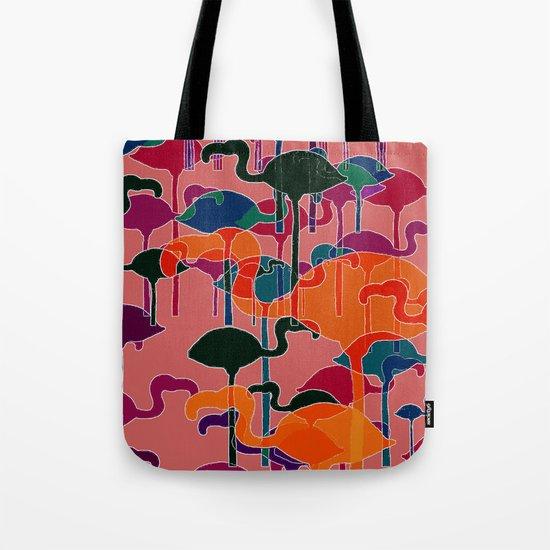 multicoloured flamingos Tote Bag