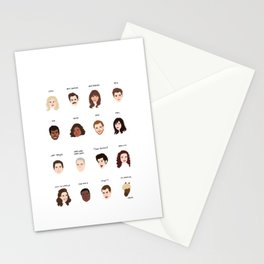 Cutie Pies of Pawnee Stationery Cards