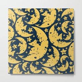 Happy halloween  moon pattern Metal Print