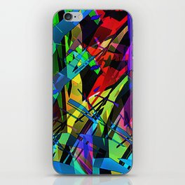 Color splinter in the abstract. iPhone Skin