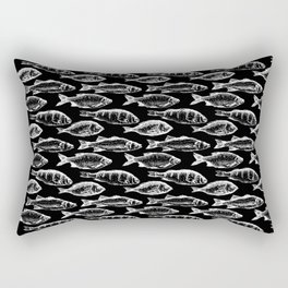 Fish on Black Rectangular Pillow